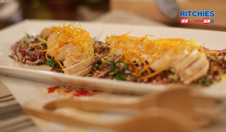 lean chicken and quinoa super food salad