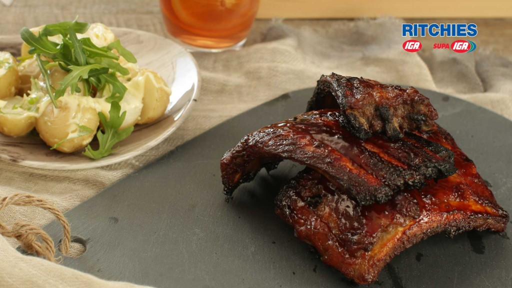 smoky BBQ and bourbon ribs