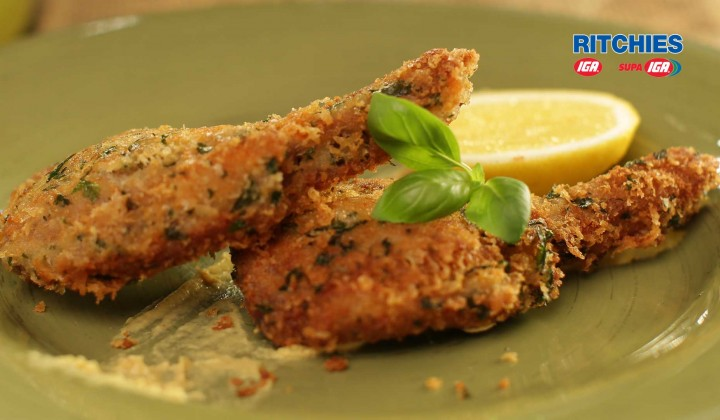 Parmesan and herb crusted lamb cutlets