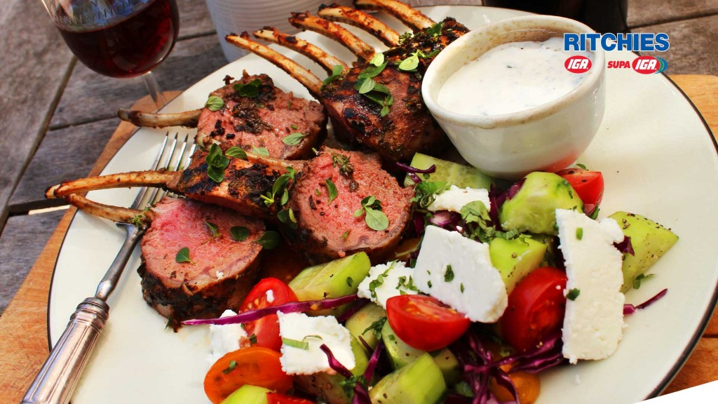 Rack of lamb with lemon thyme and mint