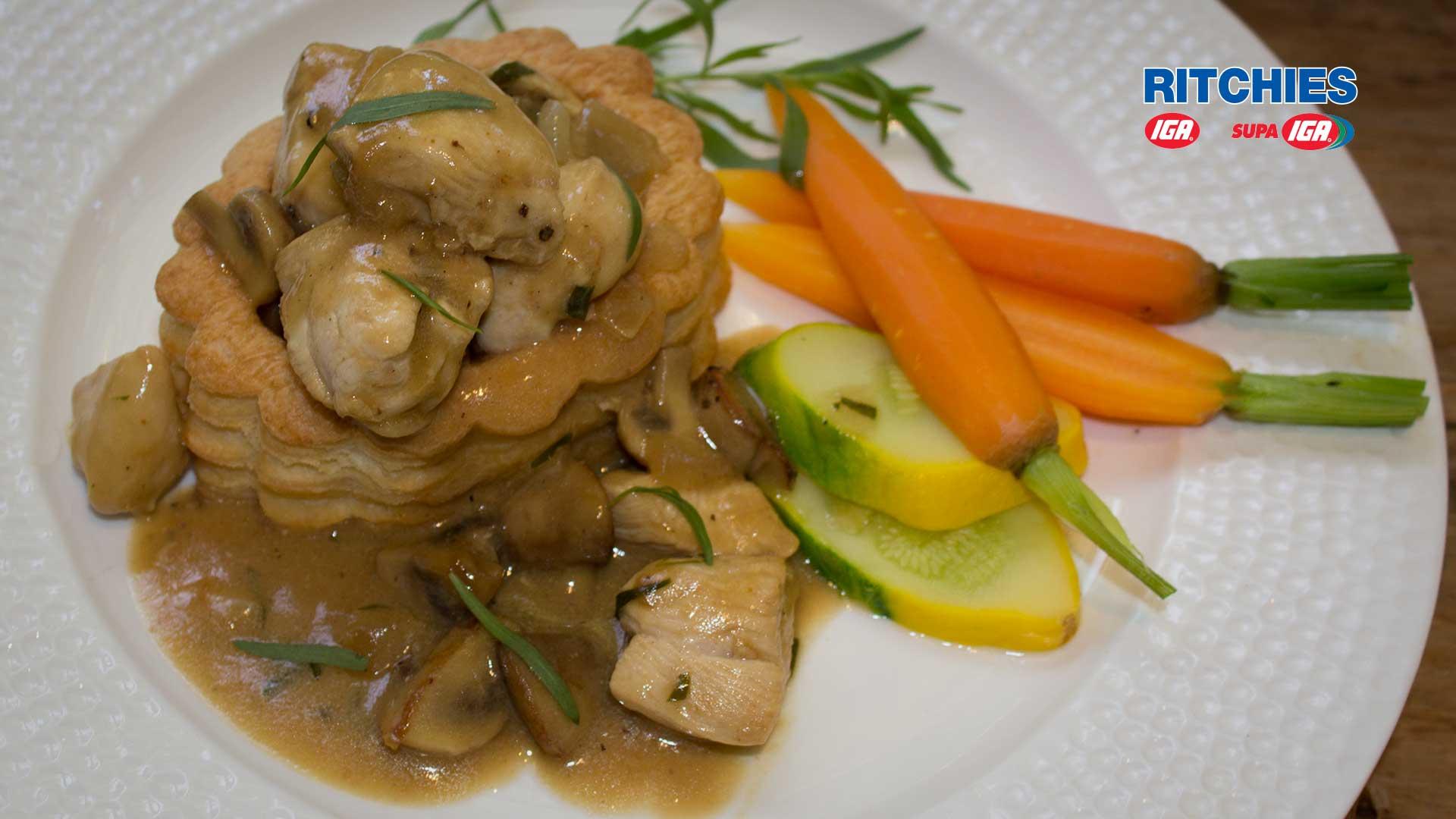 Chicken Mushroom And Tarragon Vol Au Vents Love Food