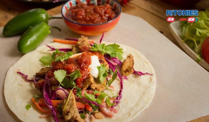 Pork and slaw tortillas