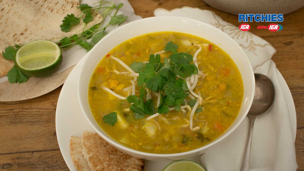 sian chicken and corn soup