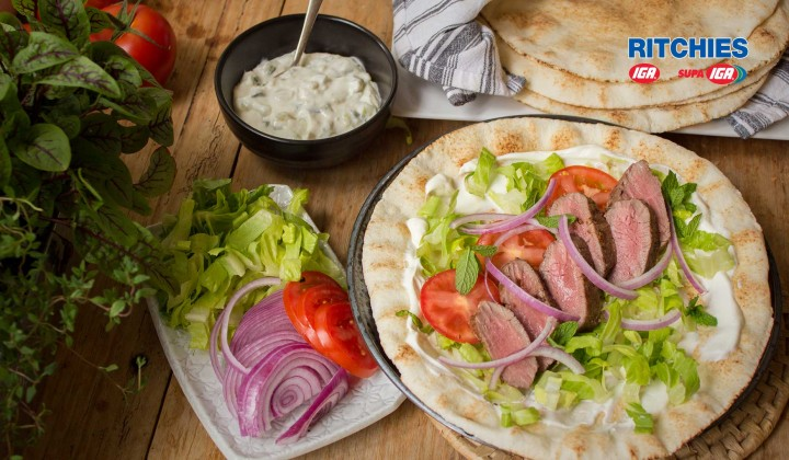 Mediterraneann lamb backstrap wraps