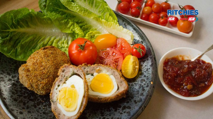 oven baked scotch eggs