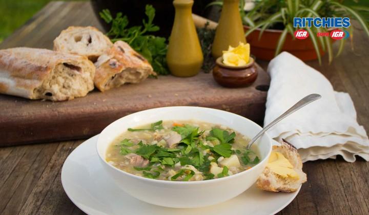 lamb shank and barley soup