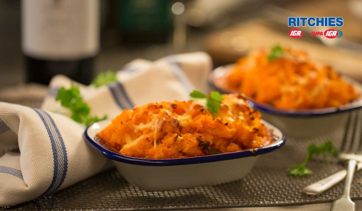 Low carb' sweet potato cottage pie