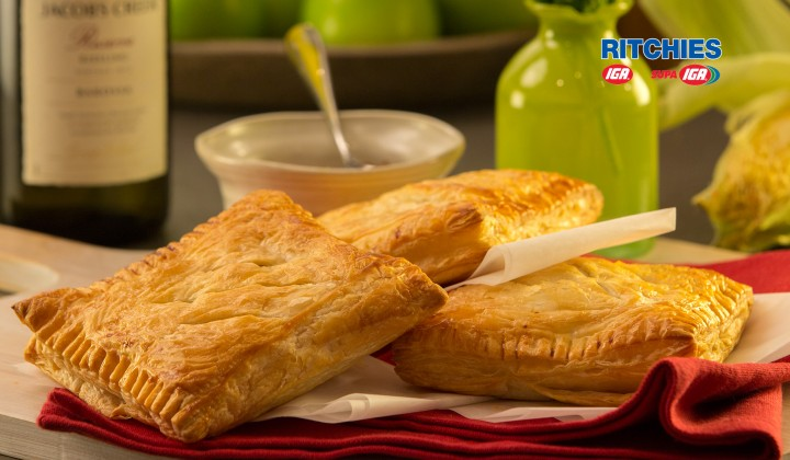 chicken bacon and corn pasties