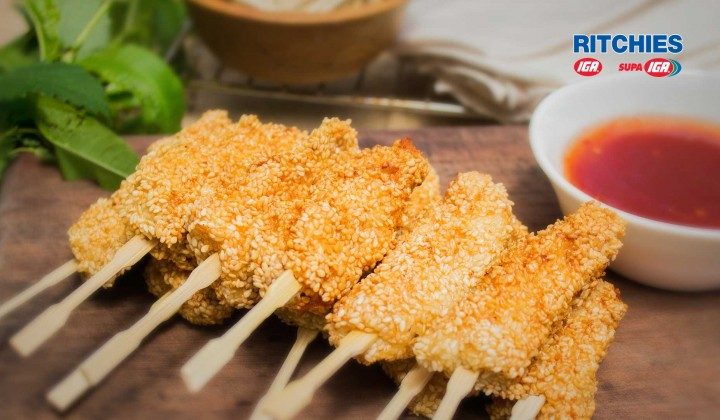 sesame chicken dippers