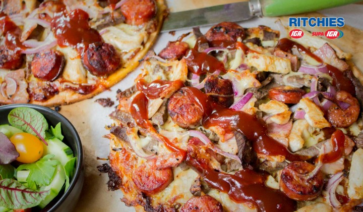meat lovers chilli pizza
