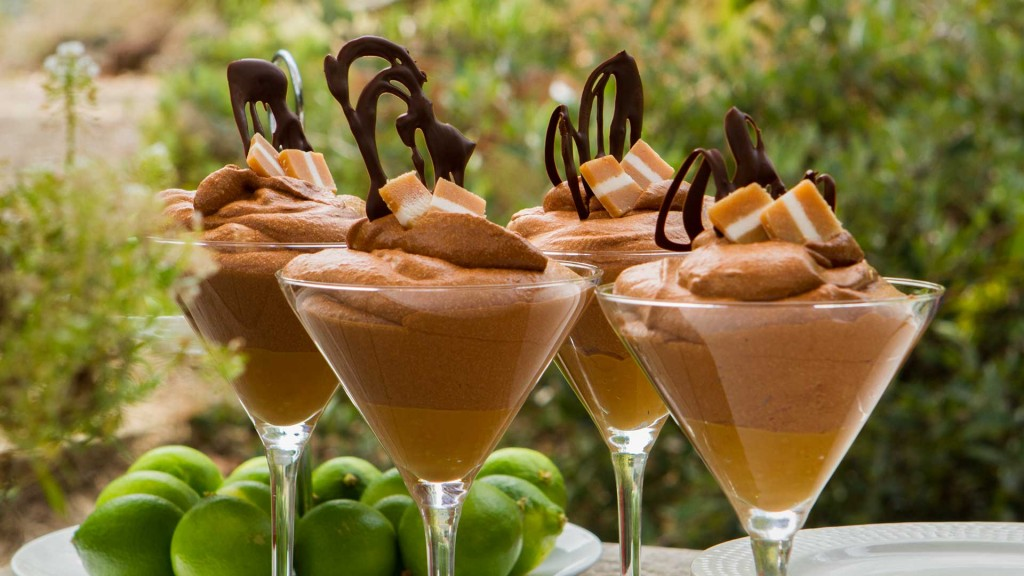 dark chocolate and salted caramel mousse