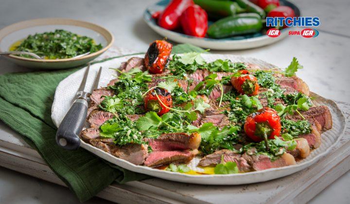 Argentine style barbeque rump steak
