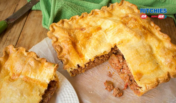mince cheese tomato pie
