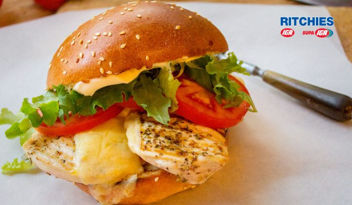 grilled chicken burger