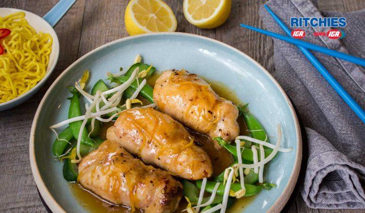 sticky lemon sesame chicken