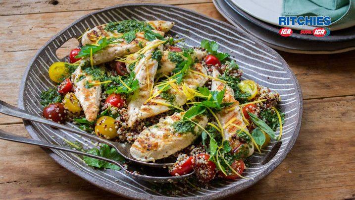 chicken herb quinoa salad