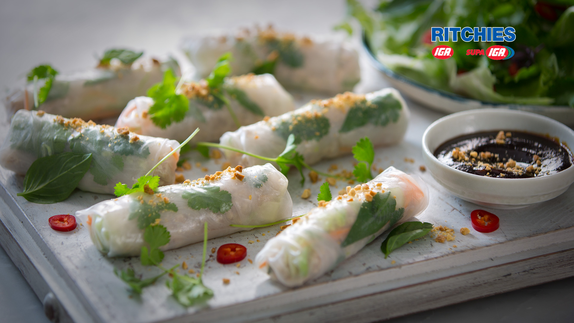 Vietnamese Style Chicken Rice Paper Spring Rolls Love Food