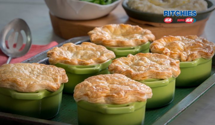 beef stout bacon pot pies