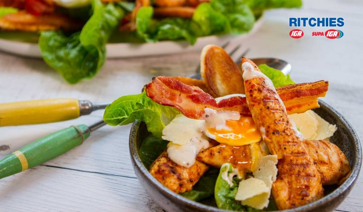 smoky chicken Caesar salad