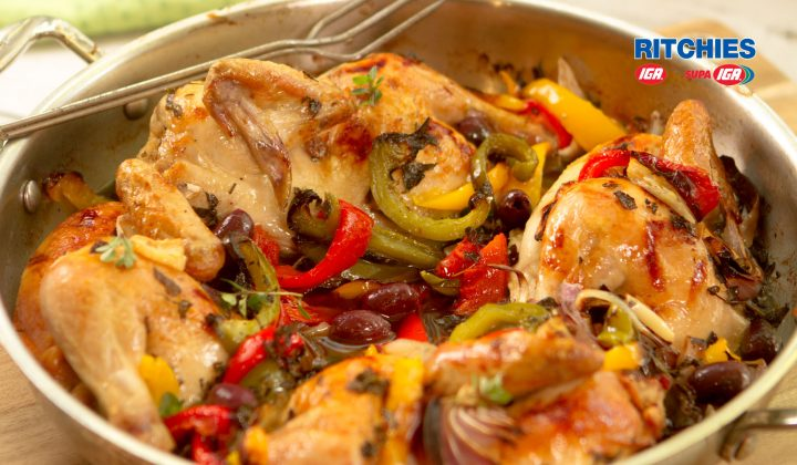 one pot pepper and olive chicken