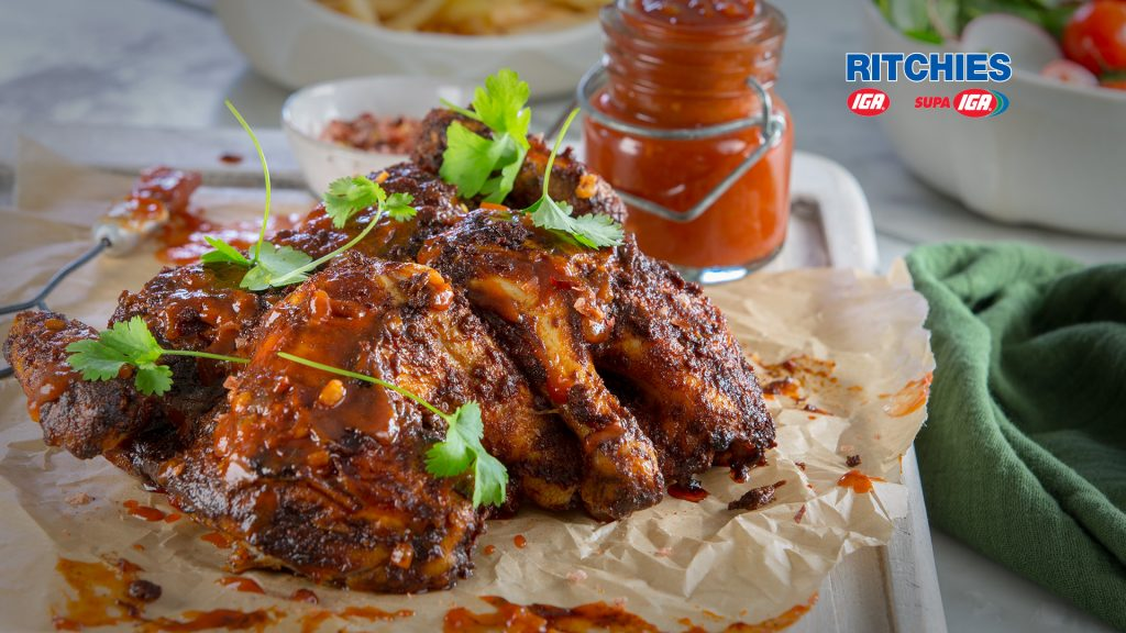 smokey barbecued butterfly chicken