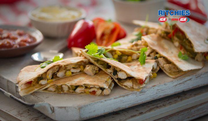 fast chicken quesadilla