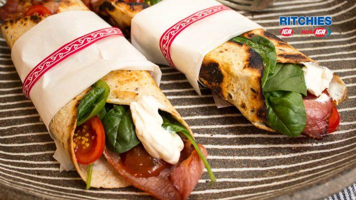 breakfast taco wrap