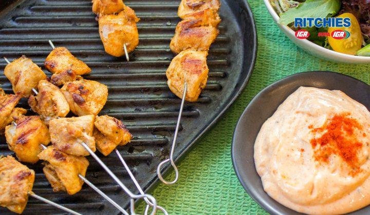 Smoky paprika chicken skewers