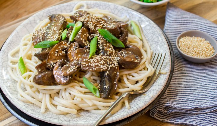 slow roast miso mushrooms