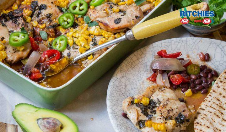 chicken corn chilli bake