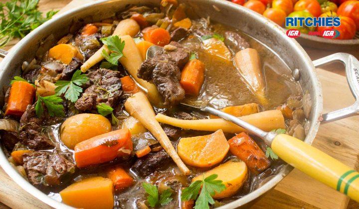 beef red wine root vegetable stew