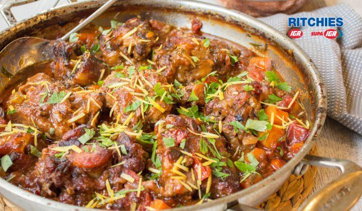 Italian style oxtail stew
