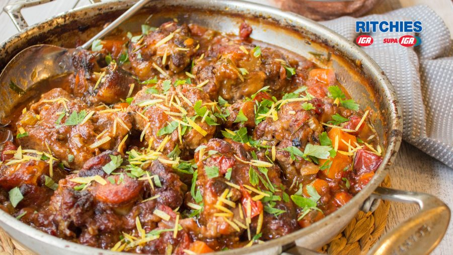 Italian style oxtail stew