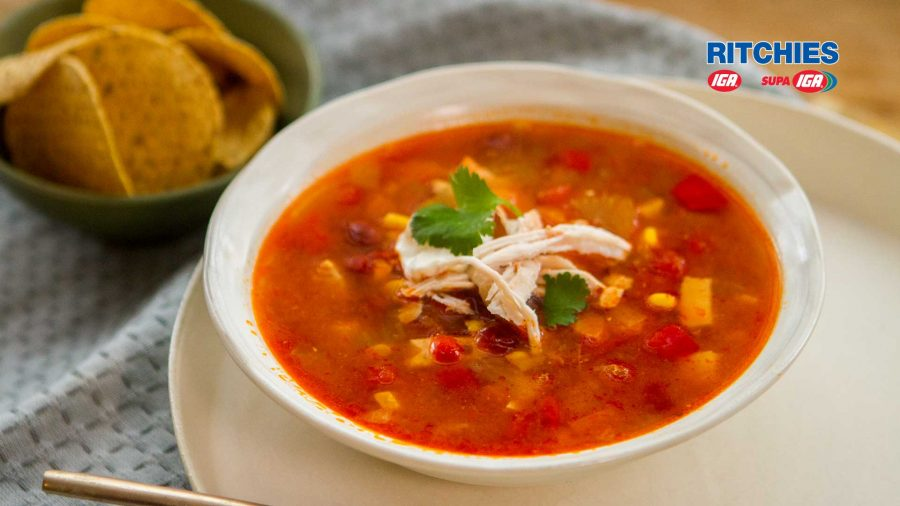 spicy Mexican style chicken soup