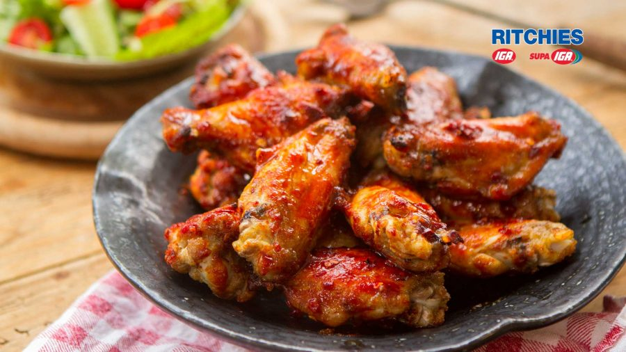 maple chipotle chicken wings