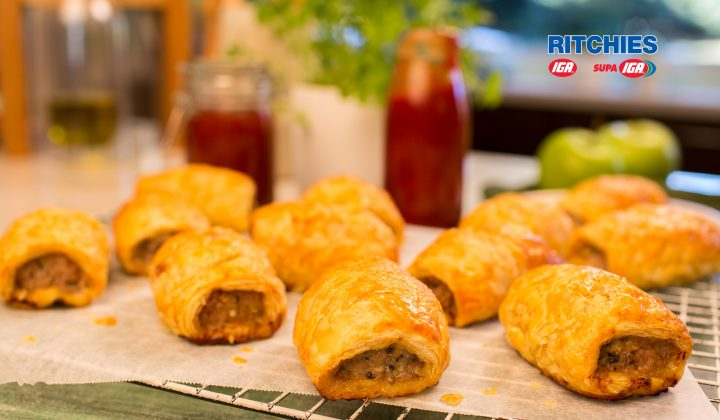 pork apple sage sausage rolls